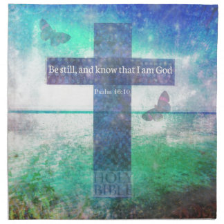 46 10 del salmo que anima verso de la biblia servilleta de papel