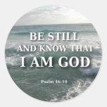 46:10 del salmo - todavía esté etiqueta redonda