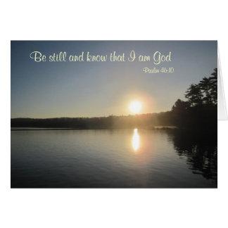 46:10 del salmo - todavía esté y sepa que soy dios tarjeta de felicitación
