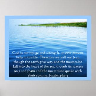 46:1 del salmo - dios 3 es nuestro POSTER del refu