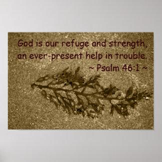 46:1 del salmo póster
