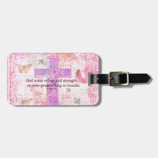 46:1 del salmo - verso Encouraging de la biblia 3 Etiquetas Bolsa