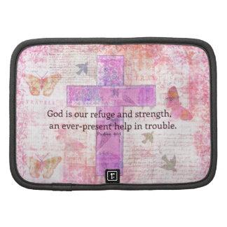 46 1 del salmo - verso Encouraging de la biblia 3 Planificador