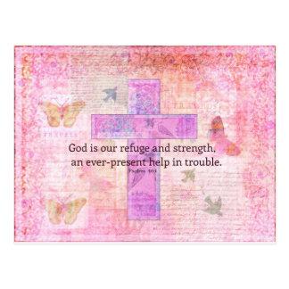 46:1 del salmo - verso Encouraging de la biblia 3 Tarjetas Postales