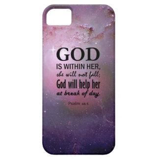 46:5 del salmo funda para iPhone SE/5/5s