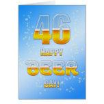46.a tarjeta de cumpleaños del día feliz de la cer