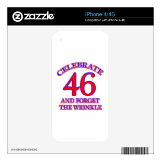 46 Birthday Design Skin For The iPhone 4S