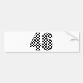 46 checkered number bumper sticker
