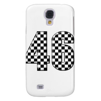 46 checkered number samsung s4 case