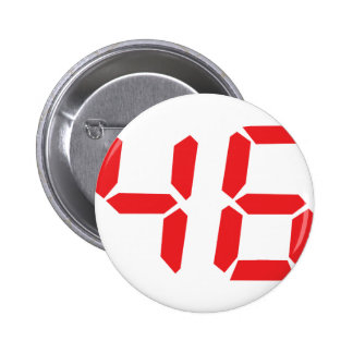 46 fourty-six red alarm clock digital number buttons