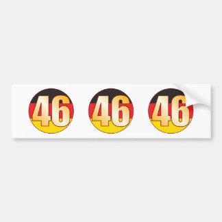 46 GERMANY Gold Bumper Sticker