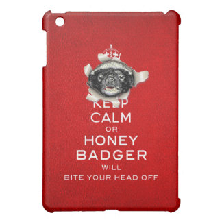 [46] Keep Calm or Honey Badger… Case For The iPad Mini