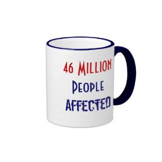 46 millones de personas de afectados taza de dos colores