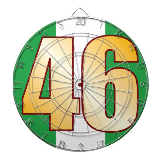 46 NIGERIA Gold Dartboard