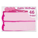 46.o cumpleaños feliz tarjetas