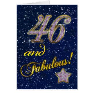 46.o cumpleaños para alguien fabuloso tarjeta de felicitación