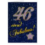 46.o cumpleaños para alguien fabuloso tarjetón