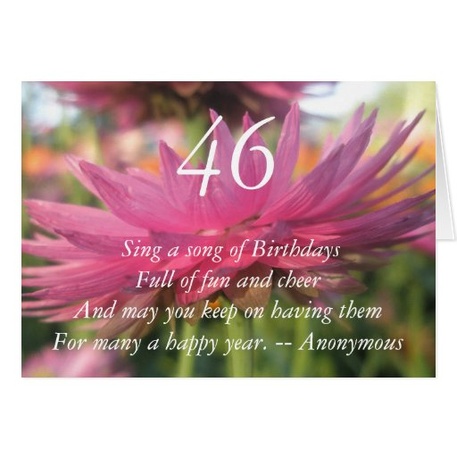 46.o Cumpleaños Tarjeta