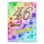 46.o Invitación de la fiesta de cumpleaños Tarjeta