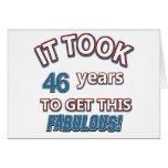 46.os diseños del cumpleaños del año tarjeta