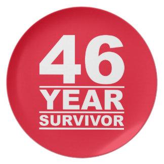 46 year survivor dinner plate