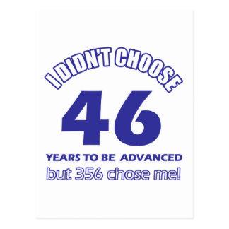 46 years advancement postcard