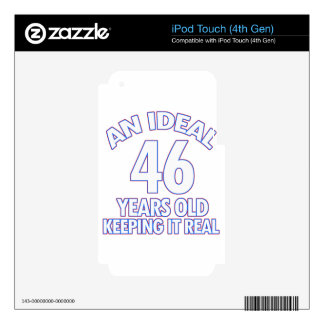46 YEARS OLD BIRTHDAY DESIGNS DECAL FOR iPod TOUCH 4G