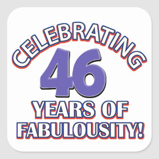 46 years Old birthday designs Stickers