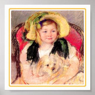 46b Sara con su perro Impresiones
