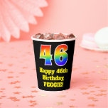 [ Thumbnail: 46th Birthday: Colorful, Fun, Exciting, Rainbow 46 ]