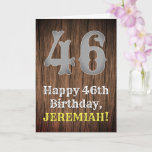 [ Thumbnail: 46th Birthday: Country Western Inspired Look, Name Card ]