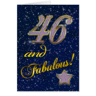 46th birthday for someone Fabulous Greeting Cards