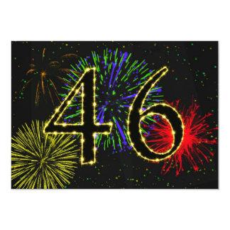 46th birthday party invitate card