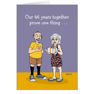 46th Wedding Anniversary Card: Love Card
