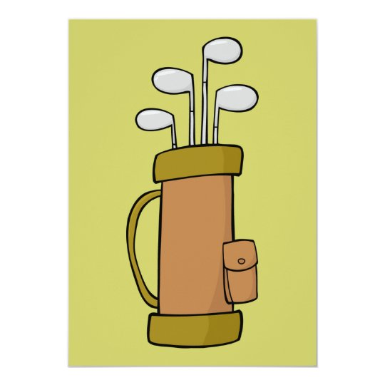 4702 GOLF BAG SPORTS NATURE COLORS CARD