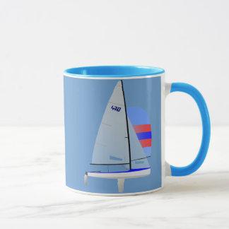 470 Class Racing Sailboat Mug