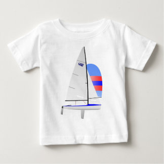 470  Racing Sailboat onedesign Olympic Class Baby T-Shirt