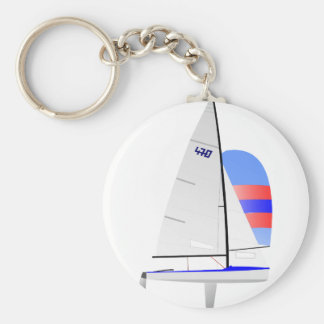 470  Racing Sailboat onedesign Olympic Class Keychain