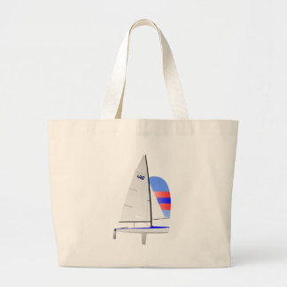 470  Racing Sailboat onedesign Olympic Class Large Tote Bag