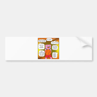 473 ball hog cartoon bumper sticker