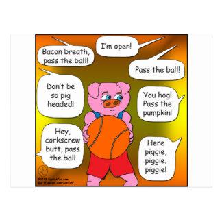 473 ball hog cartoon postcard