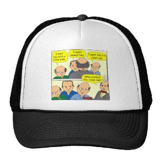 475 CUP OF TEA cartoon Mesh Hats