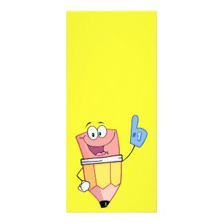 4766 HAPPY CARTOON SCHOOL PENCIL CUSTOM RACK CARDS