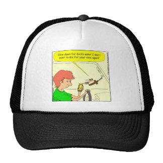 476 Jesus slow down Cartoon Trucker Hat