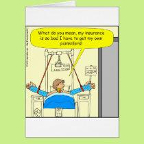 477 pain killers cartoon card