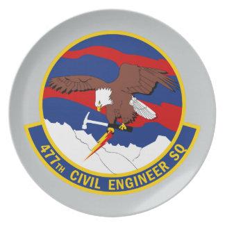 477th Civil Engineer Squadron Dinner Plate