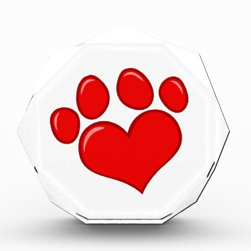 4782 RED HEART PAWS CAUSES ANIMALS LOVE CARING MOT AWARDS