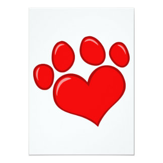4782 RED HEART PAWS CAUSES ANIMALS LOVE CARING MOT CARD