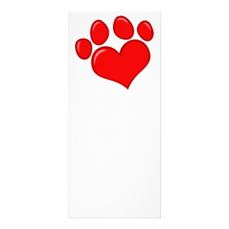 4782 RED HEART PAWS CAUSES ANIMALS LOVE CARING MOT RACK CARD