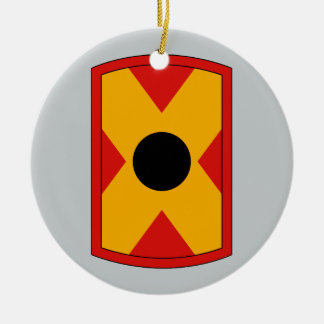 479th Field Artillery Brigade Double-Sided Ceramic Round Christmas Ornament